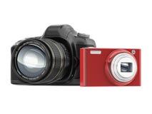 Compact en camera SLR stock illustratie