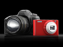 Compact en camera SLR royalty-vrije illustratie