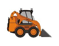 Compact excavator. Isolated vector illustration of compact excavator Royalty Free Stock Photo
