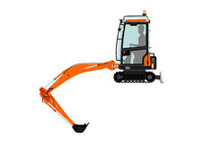 Compact excavator Royalty Free Stock Photos