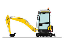 Compact excavator Royalty Free Stock Images