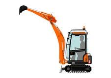 Compact excavator Stock Image