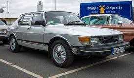 Compact executive car Saab 900 Royalty Free Stock Photo