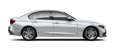 Compact executive car - side view Stock Photography