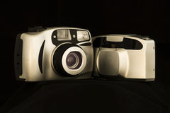 Compact film cameras Royalty Free Stock Photography
