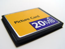 Compact Flash Card. Compact Flash Picture Card 20 MB Royalty Free Stock Image