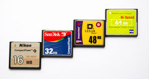 Compact flash memory cards Stock Images