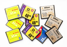 Compact flash memory cards Royalty Free Stock Photos