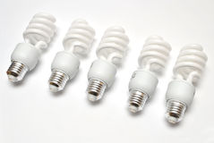 Compact Florescent Light Bulbs Stock Photography