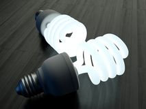 Compact Florescent Lightbulb. An energy saving light bulb Royalty Free Stock Photography