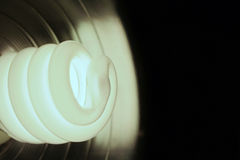 Compact Flourescent. A closeup of an energy saver compact flourescent light bulb Stock Images