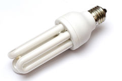 Compact Flourescent Bulb. In white background Royalty Free Stock Images