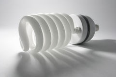 Compact Fluorescent Bulb. On Seamless Background Royalty Free Stock Image