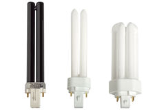 Compact fluorescent lamps. Royalty Free Stock Photo