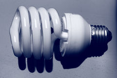Compact fluorescent light bulb Stock Image