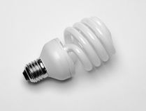 Compact fluorescent light bulb Royalty Free Stock Photos