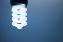 Compact Fluorescent Light Bulb. Royalty Free Stock Photos