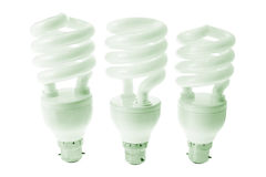Compact Fluorescent Light Bulbs Stock Photography