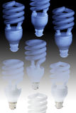 Compact Fluorescent Light Bulbs Royalty Free Stock Images
