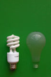 Compact Fluorescent Light, fading incandescent Stock Photos