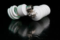 Compact fluorescent lightbulb Royalty Free Stock Images