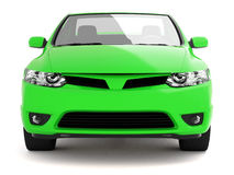 Compact Green Car Front View Stock Images