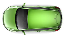 Compact green car Royalty Free Stock Photos