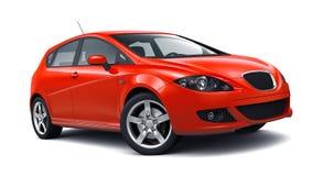 Compact hatchback car stock illustration