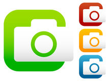 Compact - hobby photo camera icon in green, red, yellow, blue co Stock Photo