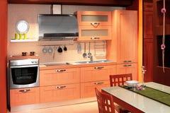Compact keukenbinnenland royalty-vrije stock afbeelding