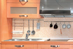 Compact kitchen detail Stock Photography