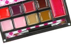 Compact Lip Gloss Set Angle Stock Photos