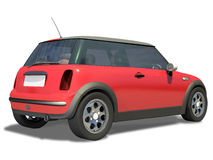 Compact Little Sports Car Royalty Free Stock Photography