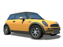 Compact little sports car on background. Stock Photos