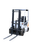 Compact loader. Grey compact loader separately on a white background Stock Photo