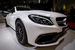 Compact luxury car Mercedes-AMG C63 S Coupe, 2016. Royalty Free Stock Image