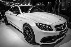 Compact luxury car Mercedes-AMG C63 S Coupe, 2016. Stock Images