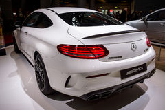 Compact luxury car Mercedes-AMG C63 S Coupe, 2016 Royalty Free Stock Photo