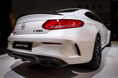 Compact luxury car Mercedes-AMG C63 S Coupe, 2016. Royalty Free Stock Photography