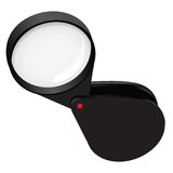 Compact magnifying glass Royalty Free Stock Photos