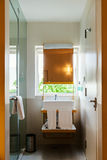 Compact modern bathroom Royalty Free Stock Photography