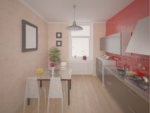 Compact modern kitchen. Stock Photography