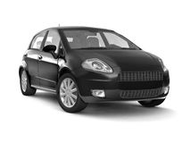 Compact new black car Stock Image