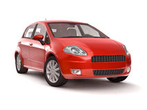 Compact new red car Royalty Free Stock Images