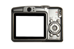Compact photo camera. With blank LCD screen stock photo