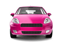 Compact pink car front view Stock Photo