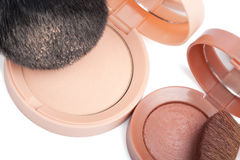 Compact powder and blush isolated Stock Photo