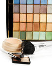 Compact powder cosmetics set Stock Image