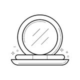 Compact powder with mirror icon, vector illustration Stock Image