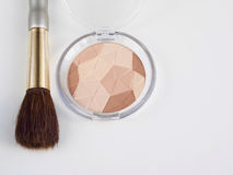 Compact powders and brush Stock Photography